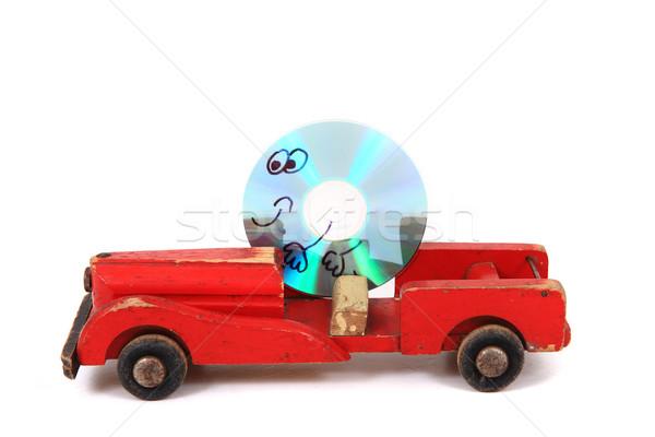Vezetés régi autó izolált fehér üzlet számítógép Stock fotó © jonnysek