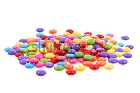 Kolor candy odizolowany biały żywności czekolady Zdjęcia stock © jonnysek