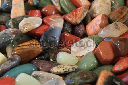 Kleur mineralen mooie natuurlijke textuur Blauw Stockfoto © jonnysek