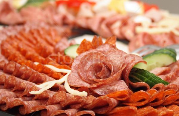 salami rose Stock photo © jonnysek