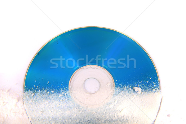 frozen CD or DVD Stock photo © jonnysek
