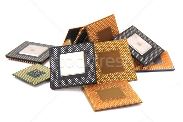 CPU microprocessors isolated Stock photo © jonnysek