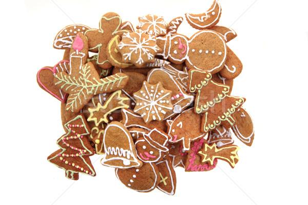 christmas ginger bread isolated Stock photo © jonnysek