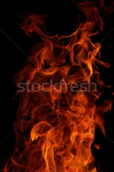 Feu rouge orange isolé noir texture Photo stock © jonnysek