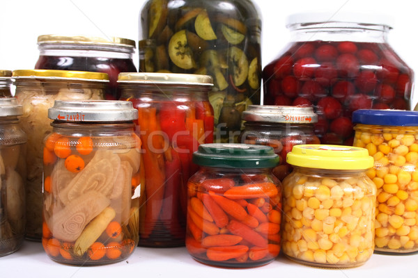 conserved fruits and vegetable Stock photo © jonnysek