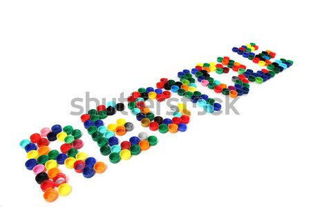 recycle symbols from the color caps Stock photo © jonnysek
