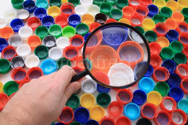plastic background Stock photo © jonnysek