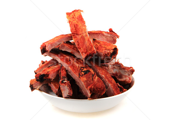 smoked pig ribs  Stock photo © jonnysek