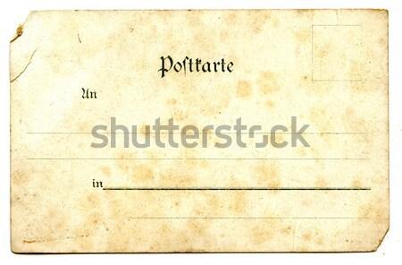 Oude lege briefkaart geïsoleerd witte ruimte Stockfoto © jonnysek
