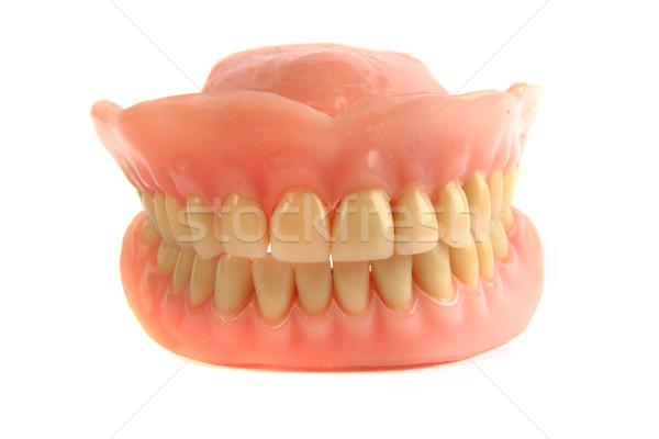 Nice dents prothèse isolé blanche médicaux Photo stock © jonnysek