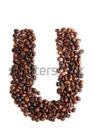 Q - alphabet from coffee beans Stock photo © jonnysek