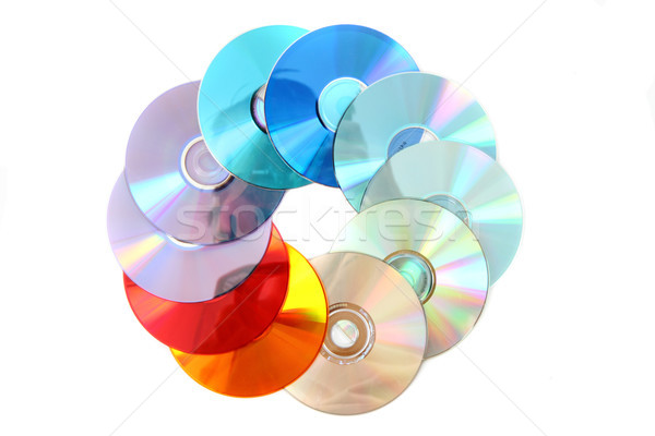 Szín cd izolált fehér zene absztrakt Stock fotó © jonnysek