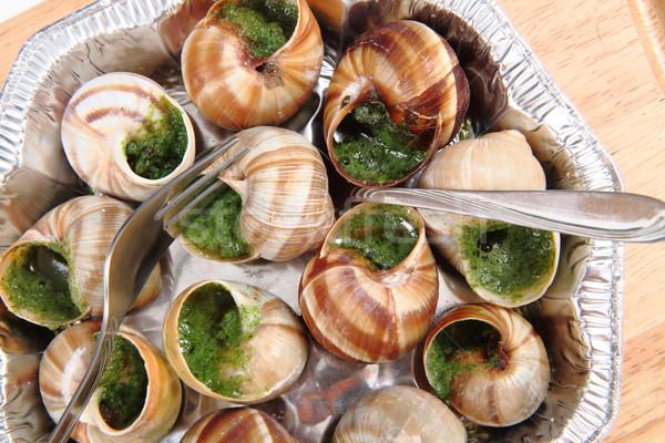 Güzel fransız gurme gıda bahçe yeşil akşam yemeği Stok fotoğraf © jonnysek