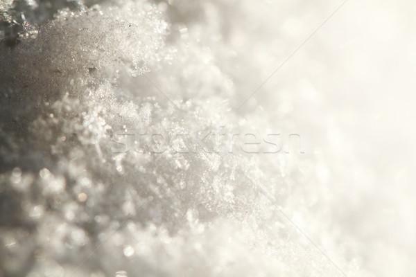 snow texture as christmas background Stock photo © jonnysek