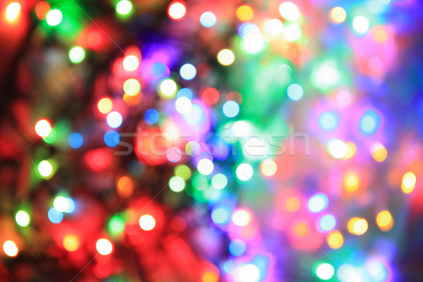 Couleur Noël lumières Nice vacances résumé Photo stock © jonnysek