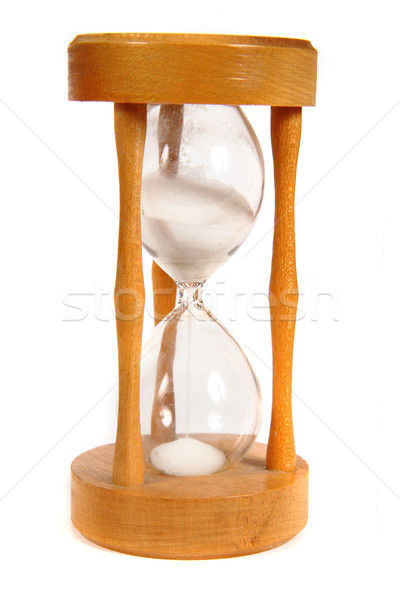 wooden hourglass Stock photo © jonnysek