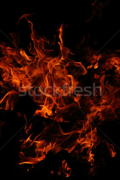 огня красный оранжевый изолированный черный текстуры Сток-фото © jonnysek