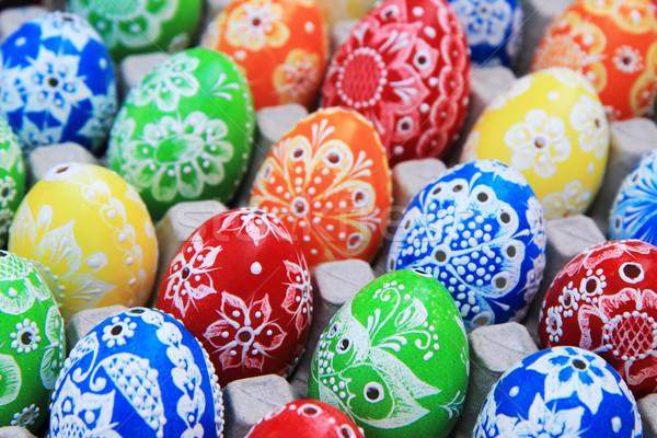 Color huevos de Pascua agradable vacaciones Pascua primavera Foto stock © jonnysek
