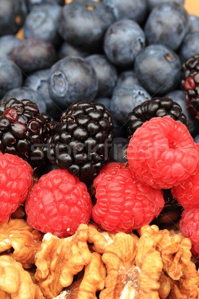 Himbeeren Brombeeren Erdbeeren Sommer nice Obst Stock foto © jonnysek