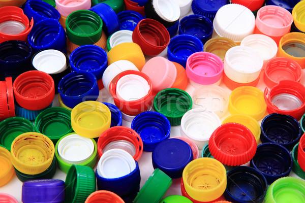 pet caps recycle background Stock photo © jonnysek