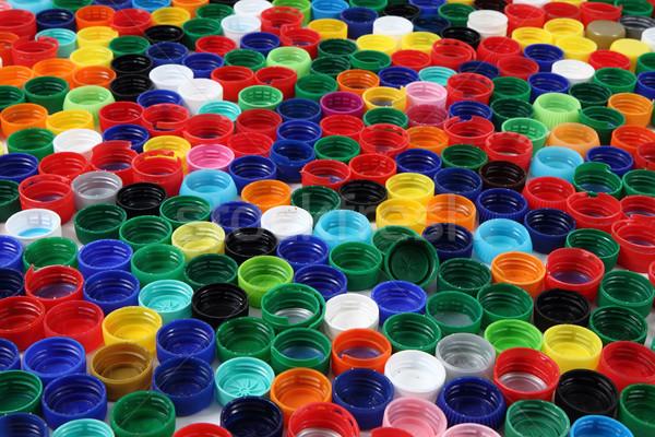 color background from plastic caps  Stock photo © jonnysek