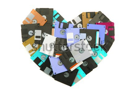 floppy disks heart Stock photo © jonnysek