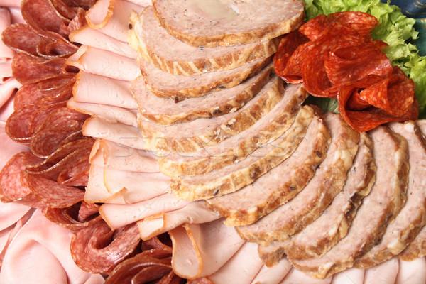 salami background Stock photo © jonnysek
