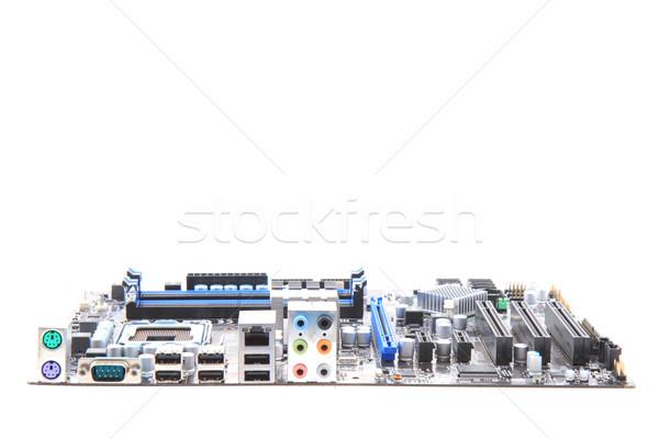現代 コンピュータ マザーボード 孤立した 白 技術 ストックフォト © jonnysek