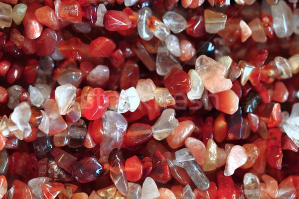Streszczenie czerwony mineralny tekstury nice charakter Zdjęcia stock © jonnysek