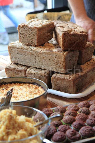 Maison alimentaire pain tarte aux pommes chocolat dessert Photo stock © jonnysek