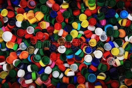 Zdjęcia stock: Kolor · plastikowe · domowych · niebieski · kosza · kolory