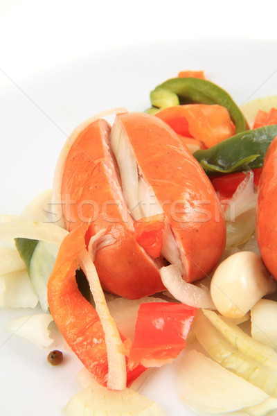 typical czech wurst (named utopenec) Stock photo © jonnysek