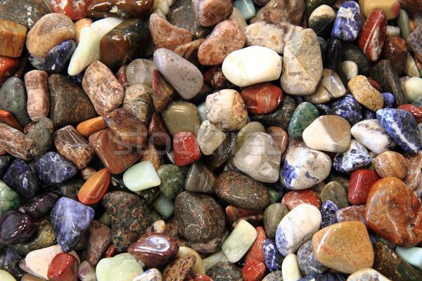 Natuurlijke kleur edelstenen textuur natuur groep Stockfoto © jonnysek