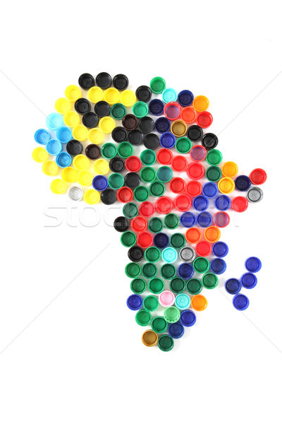 africa from the color caps Stock photo © jonnysek