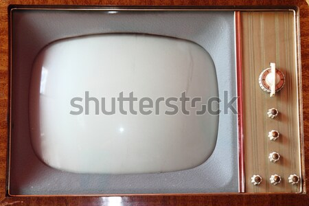 Stock photo: old TV