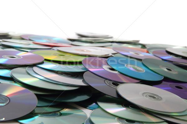 Stock fotó: Cd · adat · szép · szín · számítógép · zene