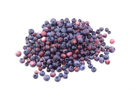 Photo stock: Fraîches · bleuets · isolé · blanche · alimentaire · fruits