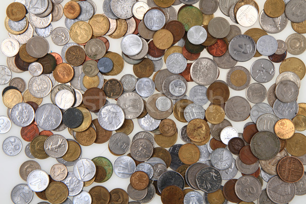 old european coins as money background Stock photo © jonnysek