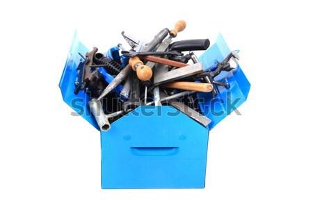 Mécanique outils boîte isolé blanche travaux Photo stock © jonnysek