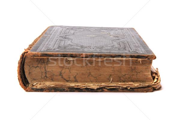 Libro viejo aislado blanco libro estudiante cuaderno Foto stock © jonnysek
