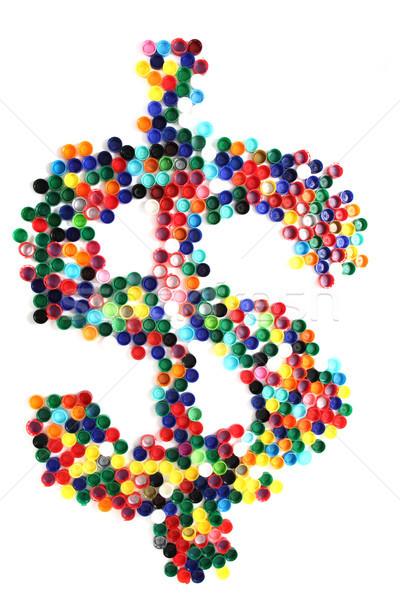 Dolar symbol kolor odizolowany biały zielone Zdjęcia stock © jonnysek