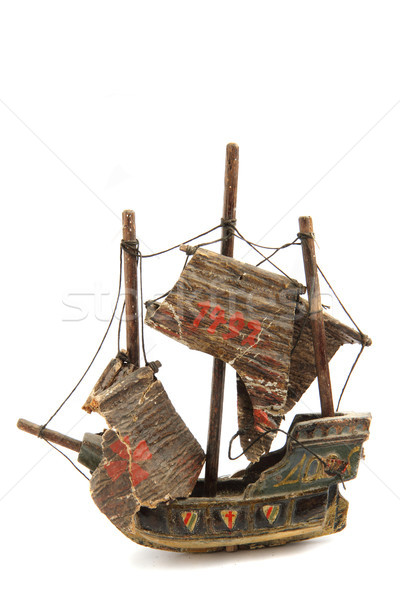 model of old ship Stock photo © jonnysek