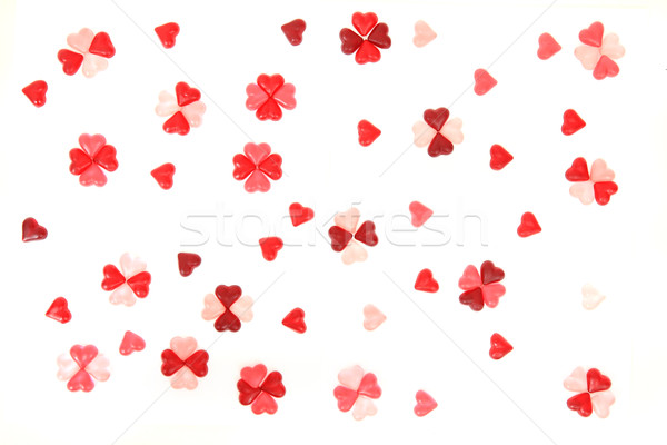 candy sweet hearts as valentine background Stock photo © jonnysek