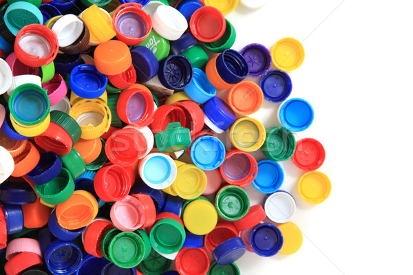 color plastic caps from pet bottles  Stock photo © jonnysek