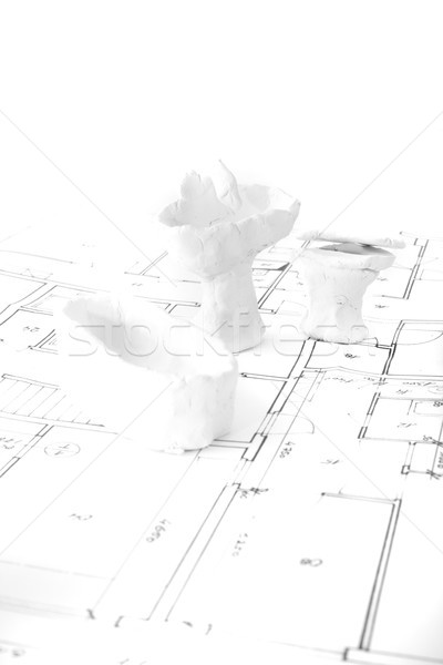 plans and toys Stock photo © jonnysek