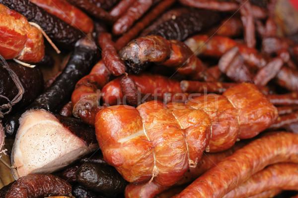 meat background Stock photo © jonnysek