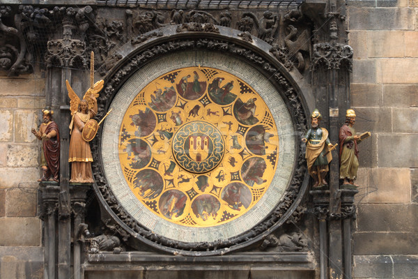 Prague clock Stock photo © jonnysek