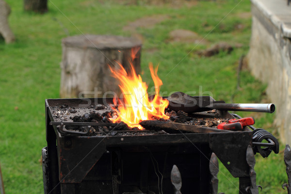 old smithery and fire Stock photo © jonnysek