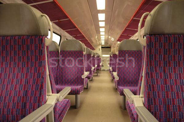 intercity train interior Stock photo © jonnysek