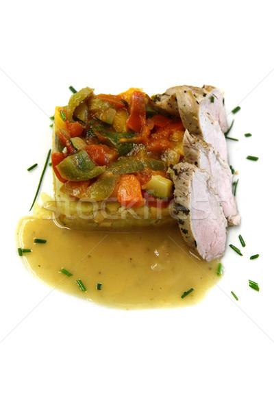 traditional vegetable ratatouille and pig meat  Stock photo © jonnysek